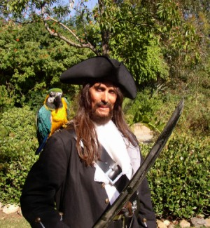 captain jack sparrow engaged in a sword fight