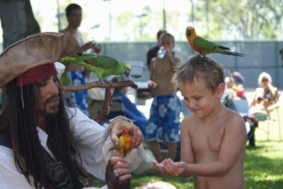 Captain Parrot Jack for hire for kids party