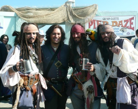 pirate entertainers at an event