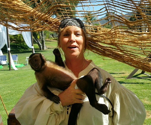 pirate monkey handler with monkey