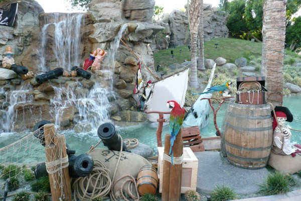 Set decoration for special events, pirate props - event design services