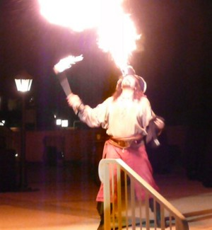 pirate entertainment - a pirate fire breather