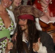 Jack Sparrow impersonator performing a parody of Jack Sparrow