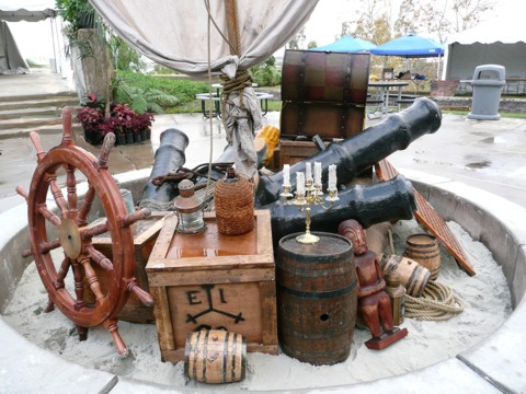 pirate props and event decoration